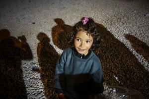 A little girl at Gevgelija transit camp. Photo: Tim Judah