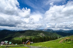 View of the Rugova Valley from the village of Kuqishtë, near the border with Montenegro. Photo: Valerie Plesch.
