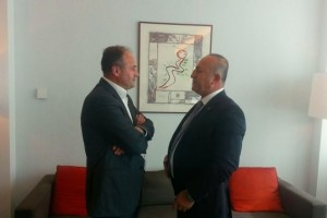 Minister Hoxhaj with his Turkish counterpart, Mevlut Cavusoglu. Photo: Kosovo Ministry of Foreign Affairs
