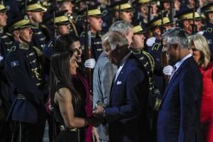 US Vice President Joe Biden with Kosovo Olympic Gold Medalist Majlinda Kelmendi. Photo: Atdhe Mulla.