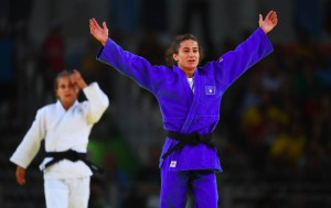 Majlinda Kelmendi wins gold in Olympics. Photo: Rio 2016.