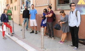 The organizers wait for a meeting with the media. Photo: Rron Gjinovci.