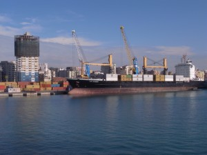 Bilge oil, a mix of oil and water that collects in ships' hulls, has been dumped at the port of Durres, Albania.