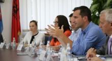 Veliaj during his official visit to Kosovo. | Photo courtesy of the Tirana Municipality.