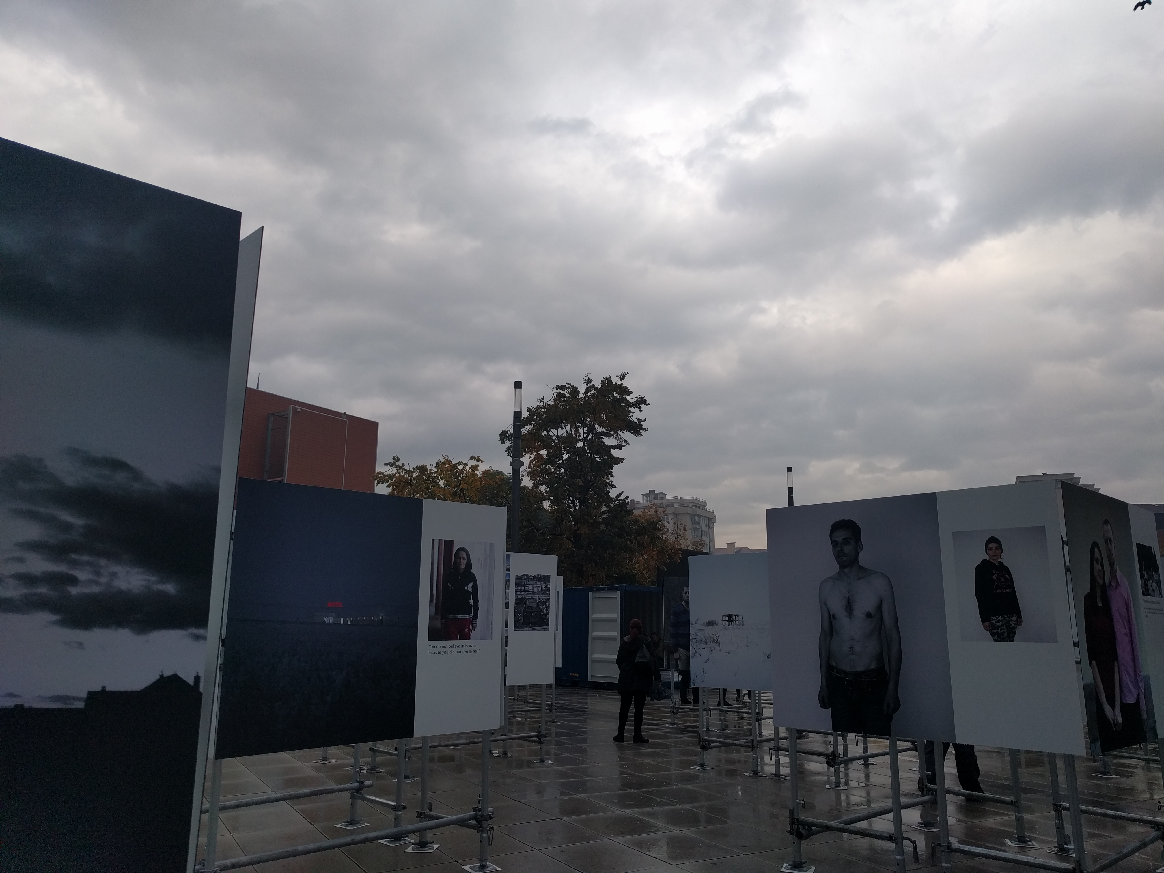 The photo exhibition is on Skanderbeg Square until October 17.