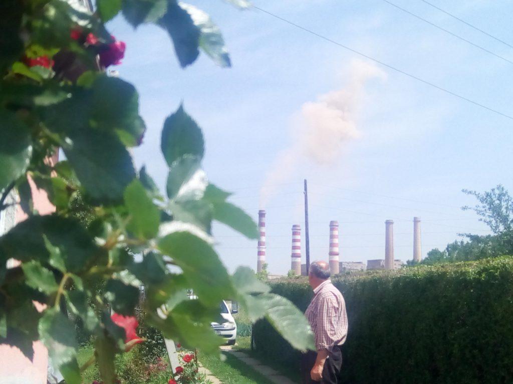 Kosovo A from Isak Maxhuni's backyard.   Photo: BIRN.