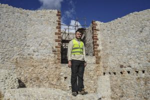 Avdi Bunjaku, 18, has worked as a security guard for the fortress since he was 16. | Photo: Faith Bailey
