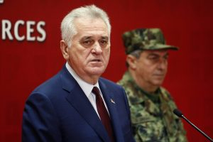 Serbian President Tomislav Nikolic at a press conference in Belgrade following an extraordinary meeting of the National Security Council. | Photo: Beta, Emil Vas