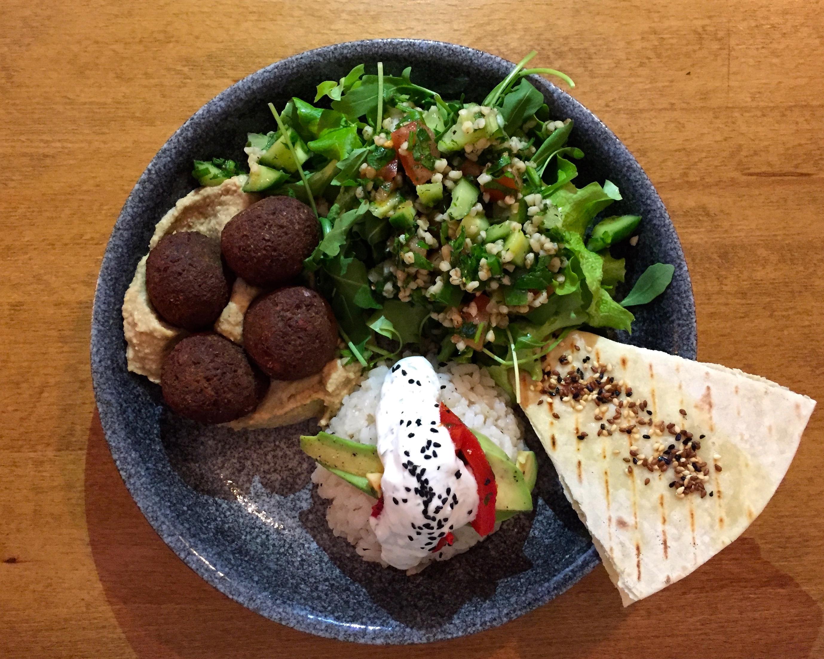 Babaghanoush's Falafel Bowl. | Photo: Faith Bailey