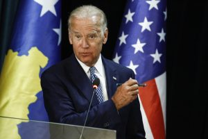 Joe Biden visits Kosovo in August 2016 to attend the road naming ceremony for Beau Biden Highway. Photo: Atdhe Mulla
