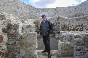 Islam Vllasaliu, guardian of the Novo Brdo fortress.   Photo: Atdhe Mulla