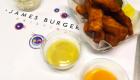 Chicken fingers at James Burger. | Photo: Facebook, James Burger