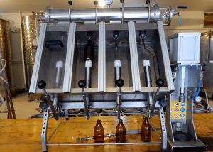 Sabaja brewery's bottling station.   Photo: Faith Bailey