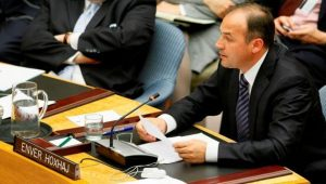 Enver Hoxhaj at the UN SC in 2012.   UN: Photo.