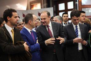 Minister Hoxhaj attending the Diaspora Summit in Tirana, Albania, November 2016.   Photo courtesy of the Kosovo MFA.