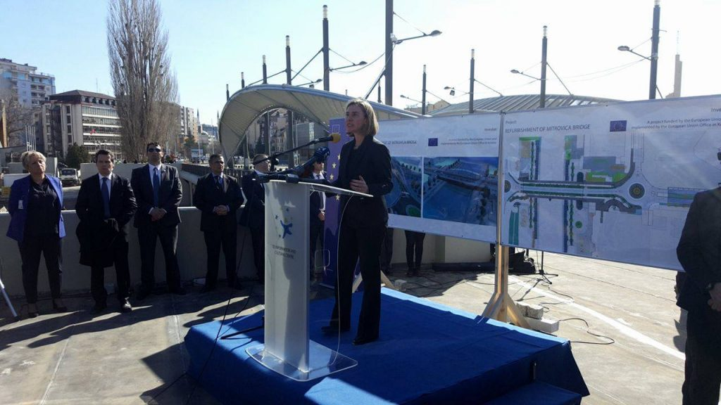Mogherini in Mitrovica. | Photo: BIRN.