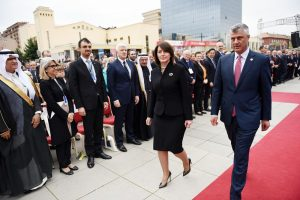 President Jahjaga and incoming President Thaci at the latter's inauguration. | Photo courtesy of the Office of the President.